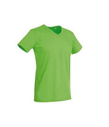Stedman Mens Ben V Neck Tee (Green Flash) - UTAB356