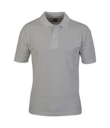 Casual Classic Mens Pique Polo (White) - UTAB252