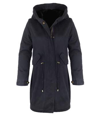 MAF20014A MANTEAU DOUBLE NOIR