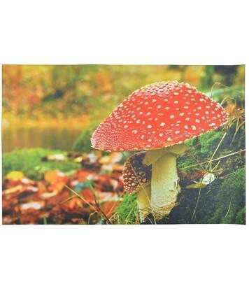 Grand paillasson déco avec motif champignon