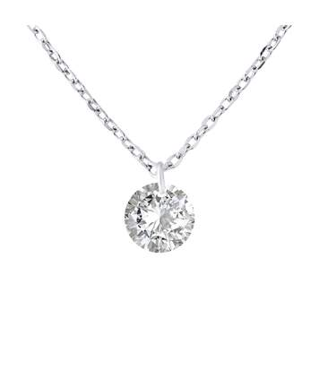 Be Loved Collier SOLITAIRE blanc argent 925  Femme