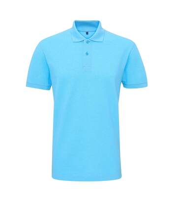 Asquith & Fox Mens Twisted Yarn Polo (Turquoise Melange) - UTRW6213