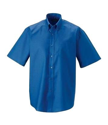 Russell Collection Mens Short Sleeve Easy Care Oxford Shirt (Oxford Blue) - UTBC1025