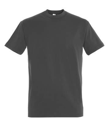 SOLS Mens Imperial Heavyweight Short Sleeve T-Shirt (Dark Grey) - UTPC290