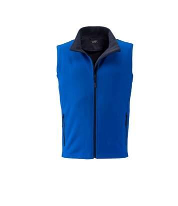 Gilet sans manches micropolaire softshell - JN1128 - bleu nautique - Homme