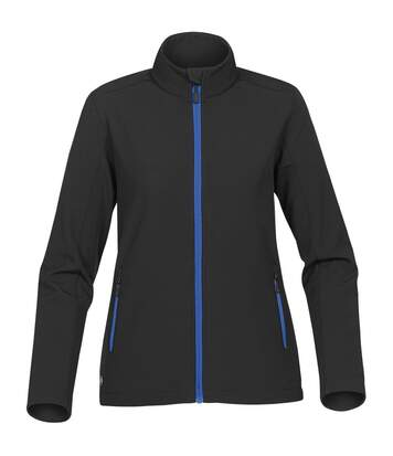 Stormtech Womens/Ladies Orbiter Softshell Jacket (Black/ Azure Blue) - UTBC4124