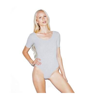 American Apparel - Body Encolure Large  - Femme (Gris clair) - UTBC4072