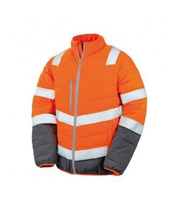 Result Mens Safe-Guard Soft Safety Jacket (Fluorescent Yellow/Grey) - UTPC3163