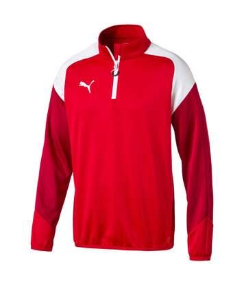 Sweat 1/4 zip rouge homme Puma Esito 4