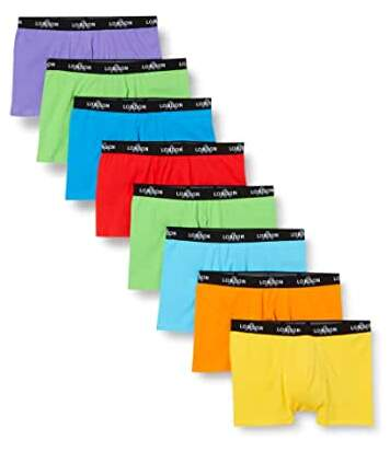 FM London Men's Fitted Boxer Hipsters 8-Pack - Neon