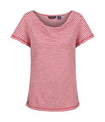 Regatta - T-Shirt Francheska - Femme (Rouge rayé) - UTRG3494