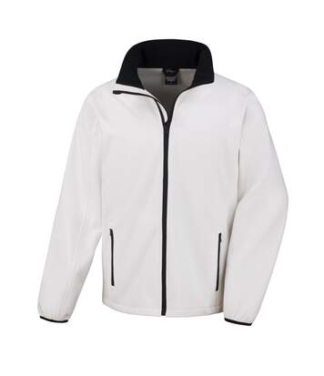 Result Mens Core Printable Softshell Jacket (White/ Black) - UTRW3697