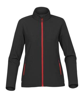Stormtech Womens/Ladies Orbiter Softshell Jacket (Black/Bright Red) - UTBC4124