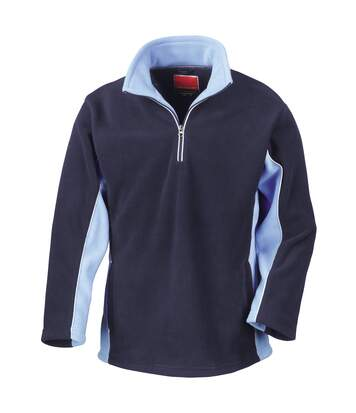 Result Mens Tech3 Sport Anti Pilling Windproof Breathable Fleece (Navy/Sky) - UTBC935