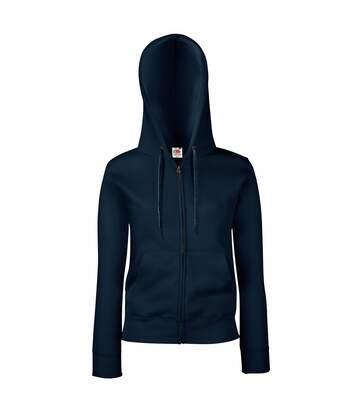 Fruit Of The Loom - Sweatshirt À Capuche Et Fermeture Zippée - Femme (Bleu marine profond) - UTBC1372