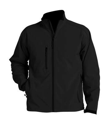 SOLS Mens Relax Soft Shell Jacket (Breathable, Windproof And Water Resistant) (Black) - UTPC347