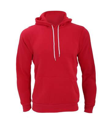 Canvas Unisex Pullover Hooded Sweatshirt / Hoodie (Red) - UTBC2598
