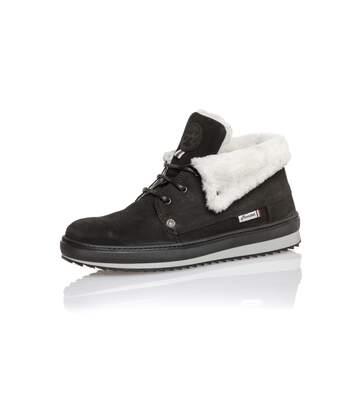 Sneaker montante avec rabat fourré