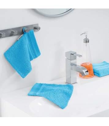 Paris Prix - Lot De 2 Gants De Toilette vitamine 15x21cm Turquoise