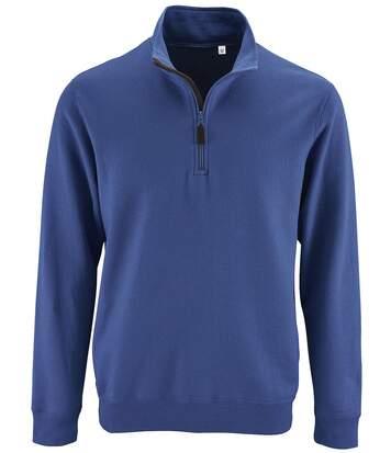 Sweat-shirt col camionneur - 02088 - bleu roi