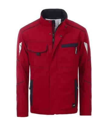 Veste de travail matelassée softshell unisexe - JN853 - rouge