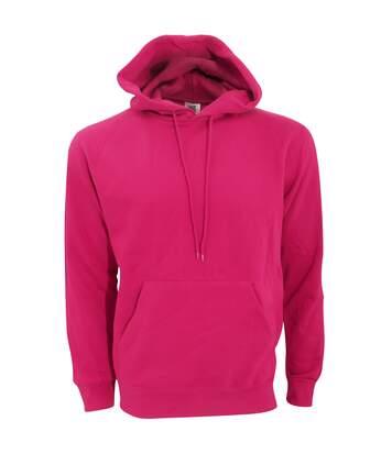 SG Mens Plain Hooded Sweatshirt Top / Hoodie (Dark Pink) - UTBC1072