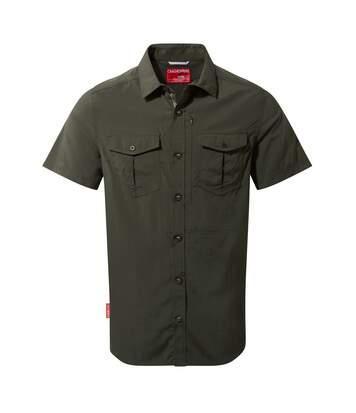 Craghoppers Mens NosiLife Adventure II Short Sleeved Shirt (Dark Khaki) - UTCG1105