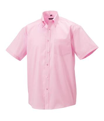 Russell Collection Mens Short Sleeve Ultimate Non-Iron Shirt (Classic Pink) - UTBC1037