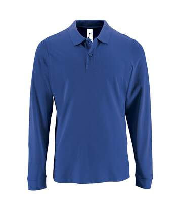 SOLS Mens Perfect Long Sleeve Pique Polo Shirt (Royal Blue) - UTPC2912