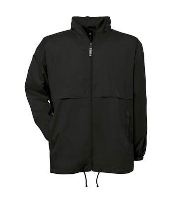 B&C Mens Air Lightweight Windproof, Showerproof & Water Repellent Jacket (Black) - UTBC1281