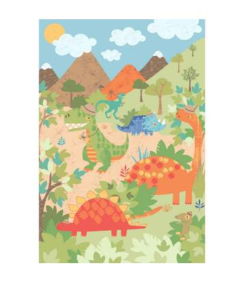 Riva Home Dinosaur - Poster Dinosaure (Multicolore) - UTRV1022
