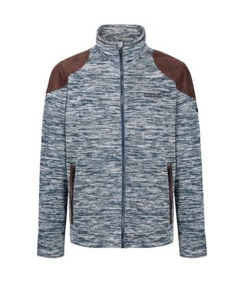 Regatta Mens Cranston Overlay Jaquard Fleece (Blue Wing) - UTRG4796