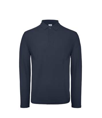 B&C ID.001 Mens Long Sleeve Polo (Ultramarine) - UTBC3942
