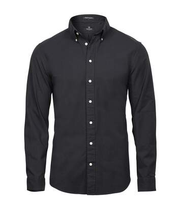 Tee Jays Mens Perfect Long Sleeve Oxford Shirt (Black) - UTPC3487