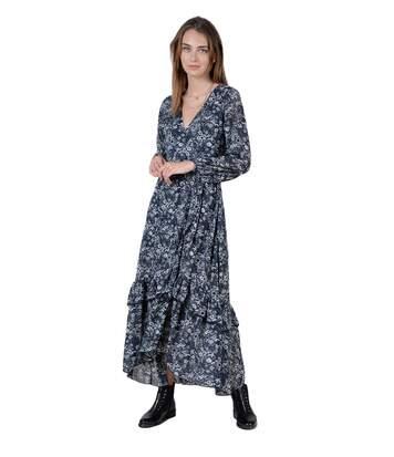 Robe portefeuille en mousseline fleurie  -  Molly bracken - Femme