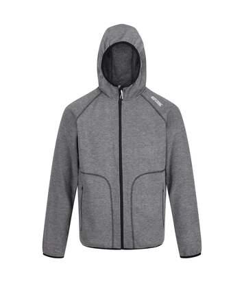 Regatta Mens Luzon II Full Zip Hooded Fleece Jacket (Magnet Grey) - UTRG4564
