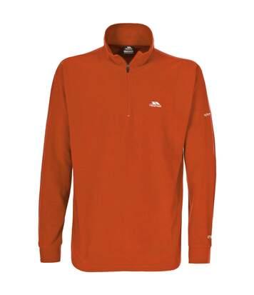 Trespass Mens Masonville Half Zip Microfleece Top (Burnt Orange) - UTTP261