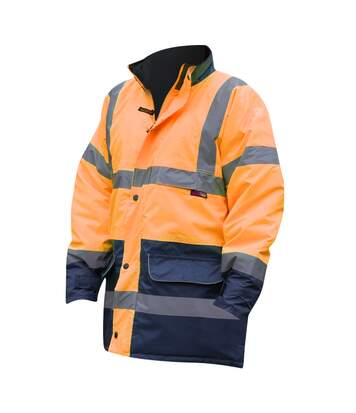 Warrior Mens Denver High Visibility Safety Jacket (Fluorescent Orange) - UTPC274