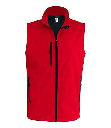 Bodywarmer softshell - gilet sans manches - K403 - rouge - Homme