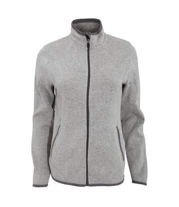 Tee Jays Womens/Ladies Full Zip Aspen Jacket (Grey Melange) - UTBC3333