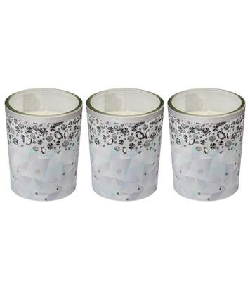 3 Bougies de Noël Design - Blanc