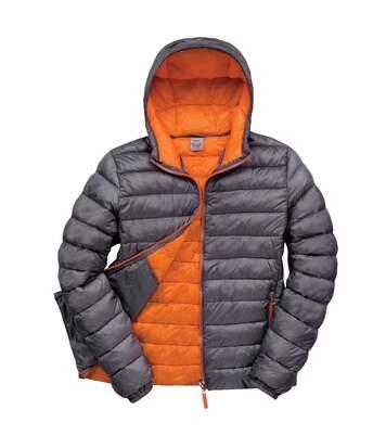 Result Urban Mens Snowbird Hooded Jacket (Grey/Orange) - UTBC3255