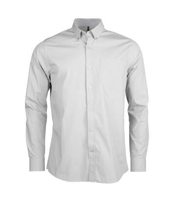 Kariban Mens Long Sleeve Washed Poplin Shirt (White) - UTPC2541