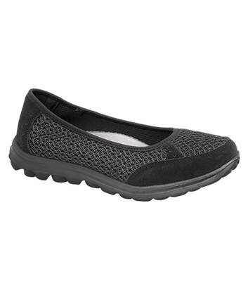 Boulevard - Chaussures Ouvertes À Mémoire De Forme - Femme (Noir) - UTDF1338