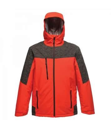 Regatta Mens Marauder II Waterproof Hooded Jacket (Pepper/Black) - UTRG3503