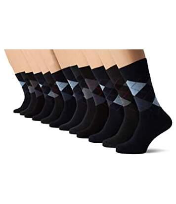 FM London 12 Pack Socks Argyle