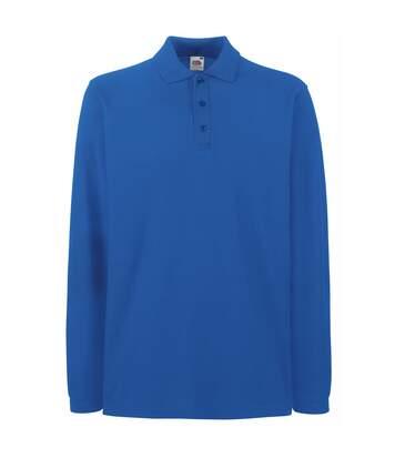 Fruit Of The Loom Mens Premium Long Sleeve Polo Shirt (Royal) - UTBC1383