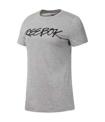Script Femme Tee-shirt Gris Reebok