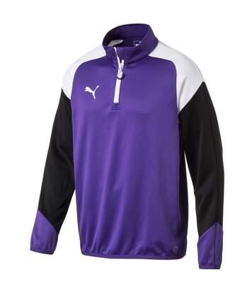 Sweat 1/4 zip violet homme Puma Esito 4