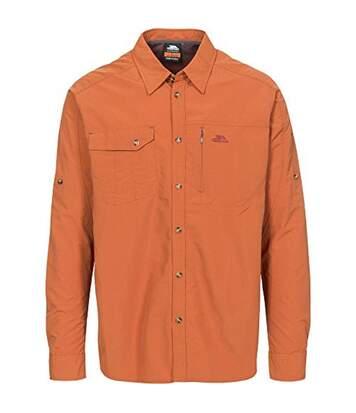 Trespass Mens Darnet Long Sleeve Travel Shirt (Burnt Orange) - UTTP4133
